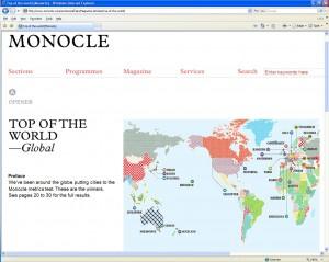 Mapa online com o resultado da pesquisa
