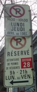 Placa típica de proibido estacionar