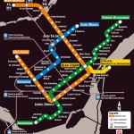 Mapa do metrô de Montreal