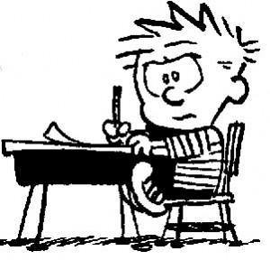 calvin_estudar