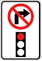 contravention-pour-avoir-tourne-a-droite-interdit-sur-feu-rouge